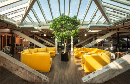 Victoria's newest coworking space sits under a vast glass roof