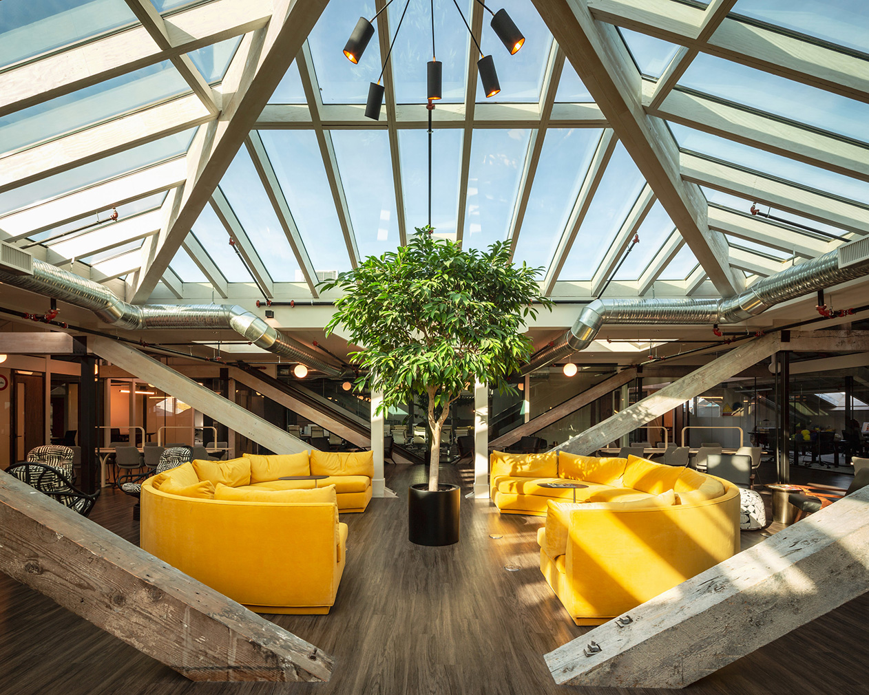 Victoria's newest coworking space Kwench sits under a vast glass roof