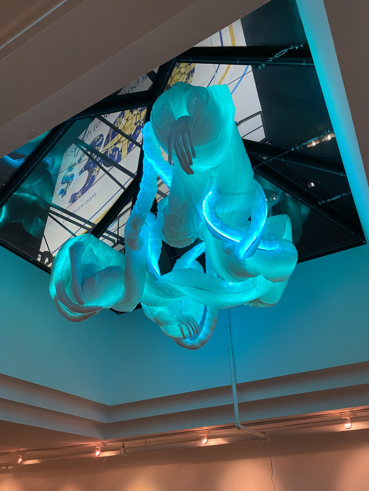Glowing limbs reach through The Delisle Space in Toronto for DesignTO