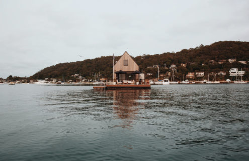 Go aboard a floating cabin in Sydney's Palm Beach