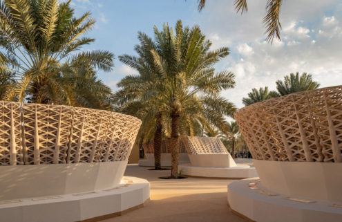 This sustainable street furniture is 3D-printed using sand