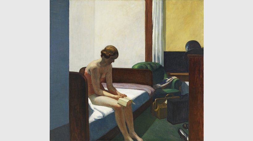 'Hotel Room', 1931, oil on canvas. Thyssen-Bornemisza National Museum Madrid
