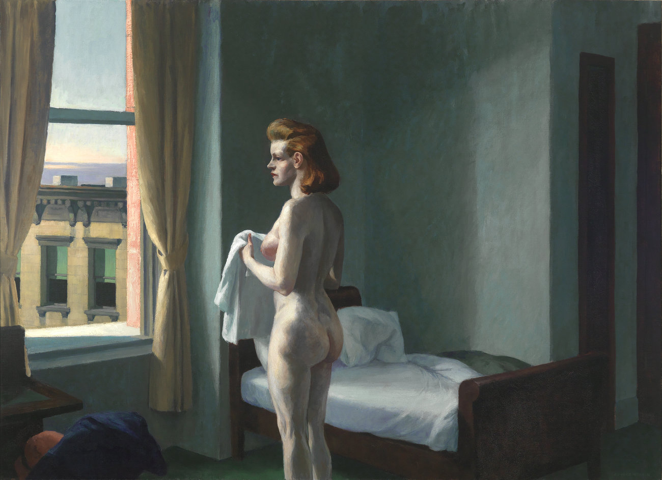 'Morning in a City', oil on canvas, 1944. Williams College Museum of Art