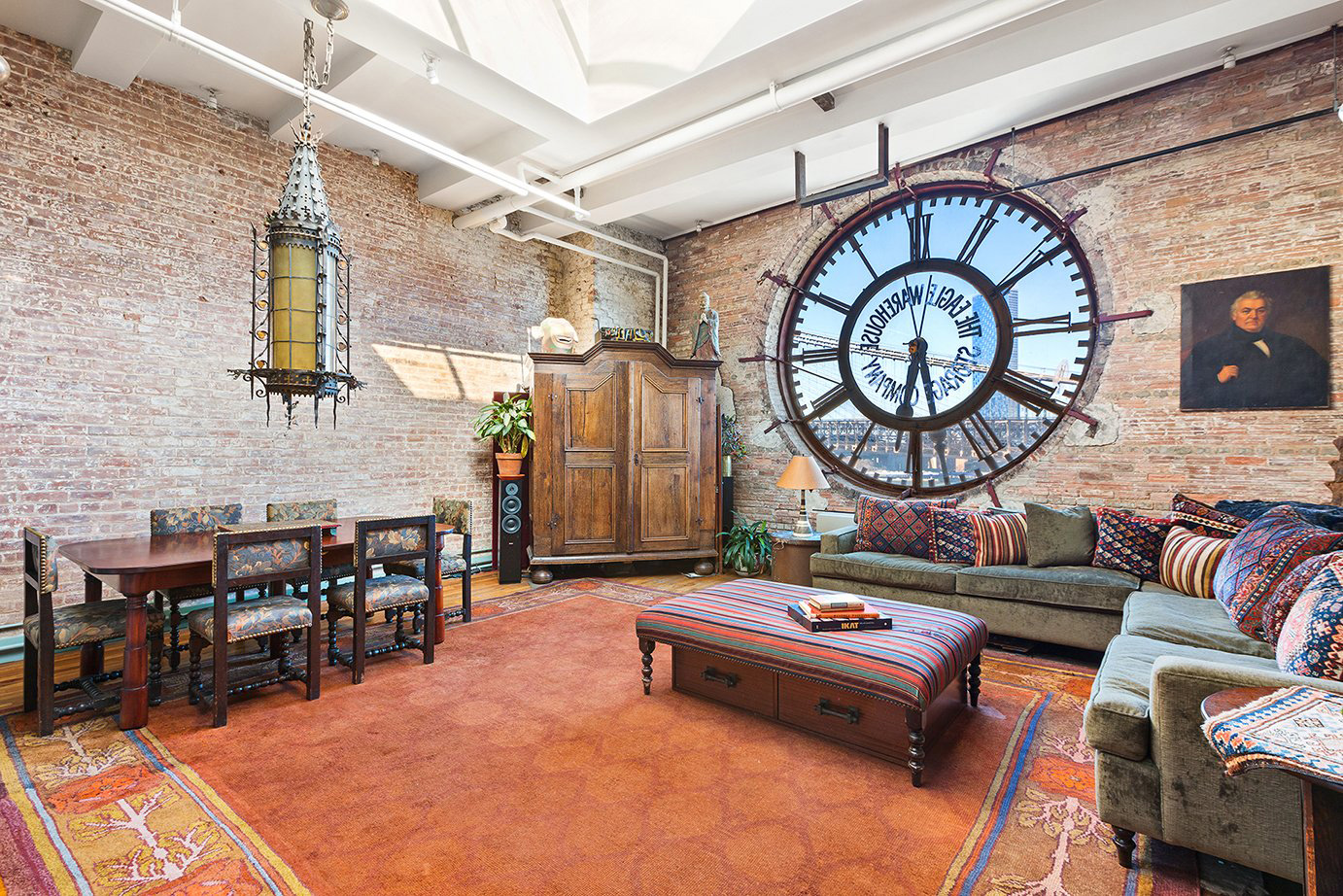 The Clock Unit sits atop a warehouse in Brooklyn