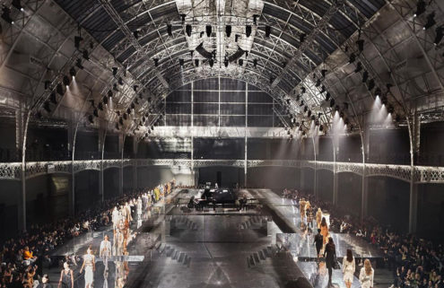 Burberry's mirrored catwalk turns London's Olympia into a glistening jewel for AW20 show