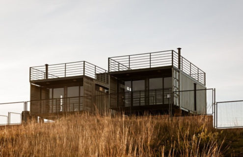 This couple's retreat is built from eco-friendly shipping containers