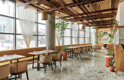 Mumbai's Ishaara restaurant celebrates biophilic design and transparency