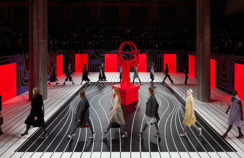 Prada's rippling AW20 Womenswear set picks up where its Menswear show left off