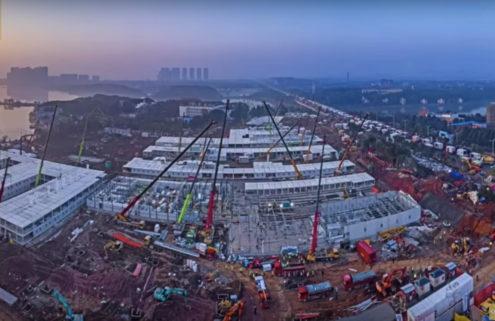 China builds Coronavirus hospital in under 10 days