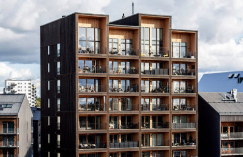 Sweden's tallest timber building completes