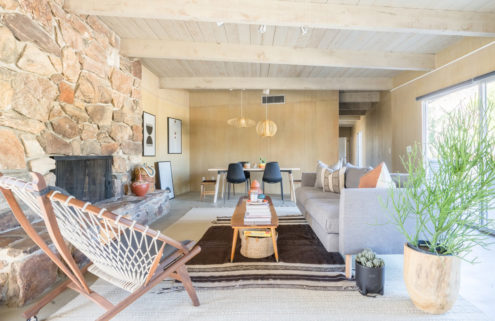 This desert modernist retreat hunkers down in California's largest state park