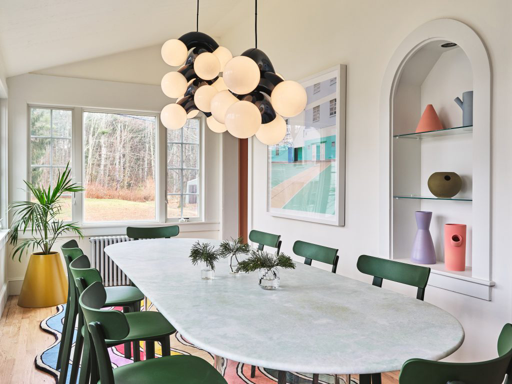 This shoppable holiday home by Pieces is awash with colour