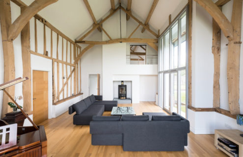 Converted Suffolk dairy barn has lofty proportions