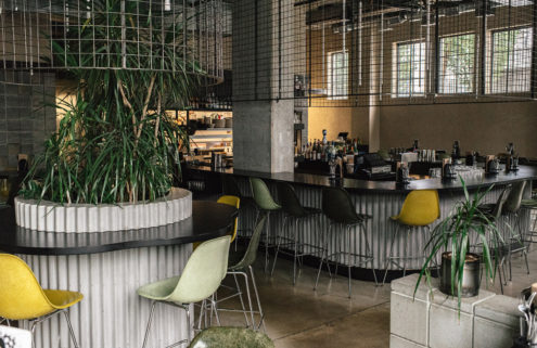 Vancouver's Tacofino Ocho serves margaritas in an industrial jungle