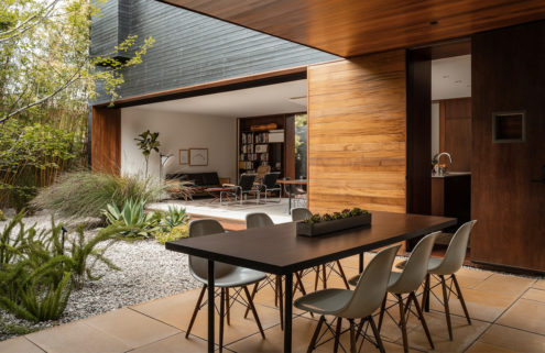 A cedar-clad home by Sebastian Mariscal has listed in LA for $3.7m
