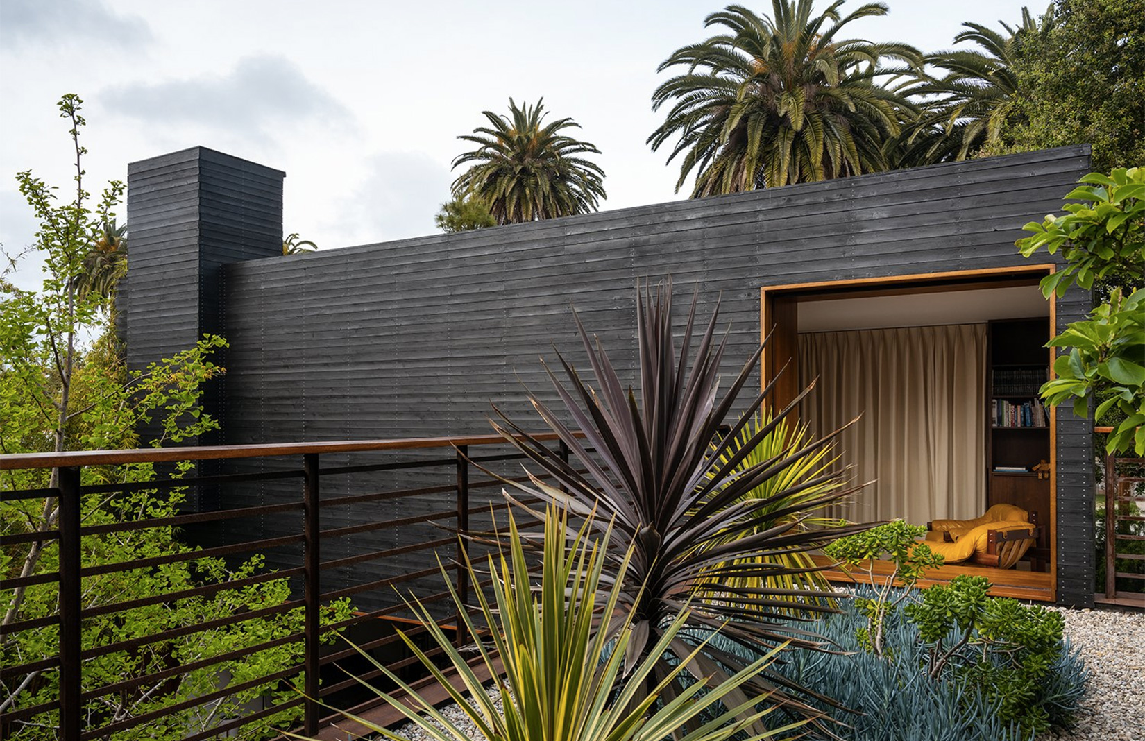A cedar-clad home surrounded by gardens in Los Angeles, US