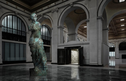 Virtual artworks are taking up residence in Detroit's landmark buildings