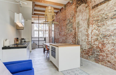 This Amsterdam apartment offers perfectly polished industrial living