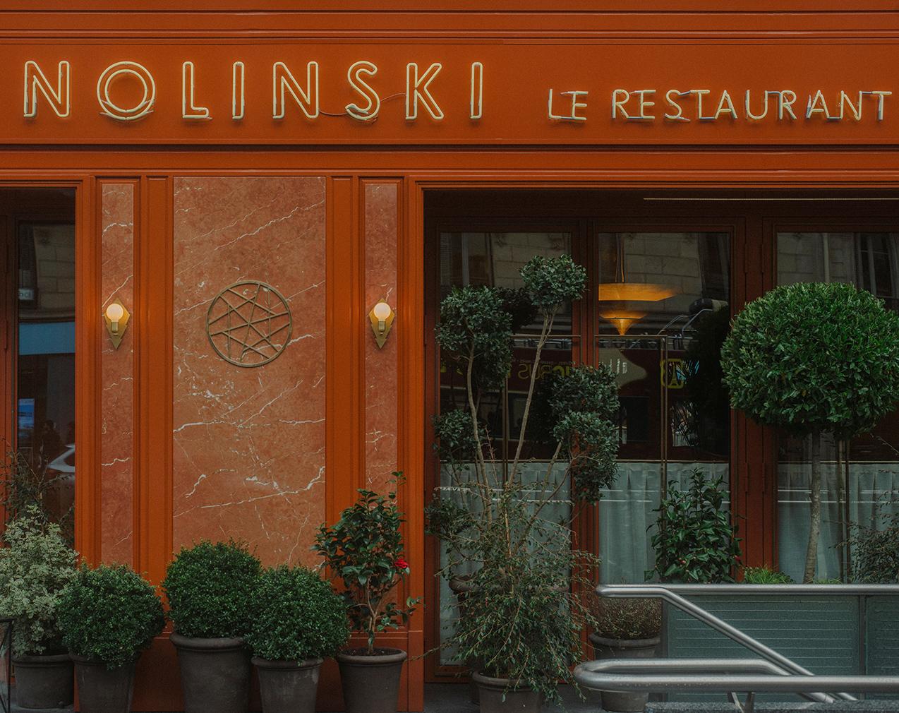 Nolinski restaurant fuses art deco and 70s styles
