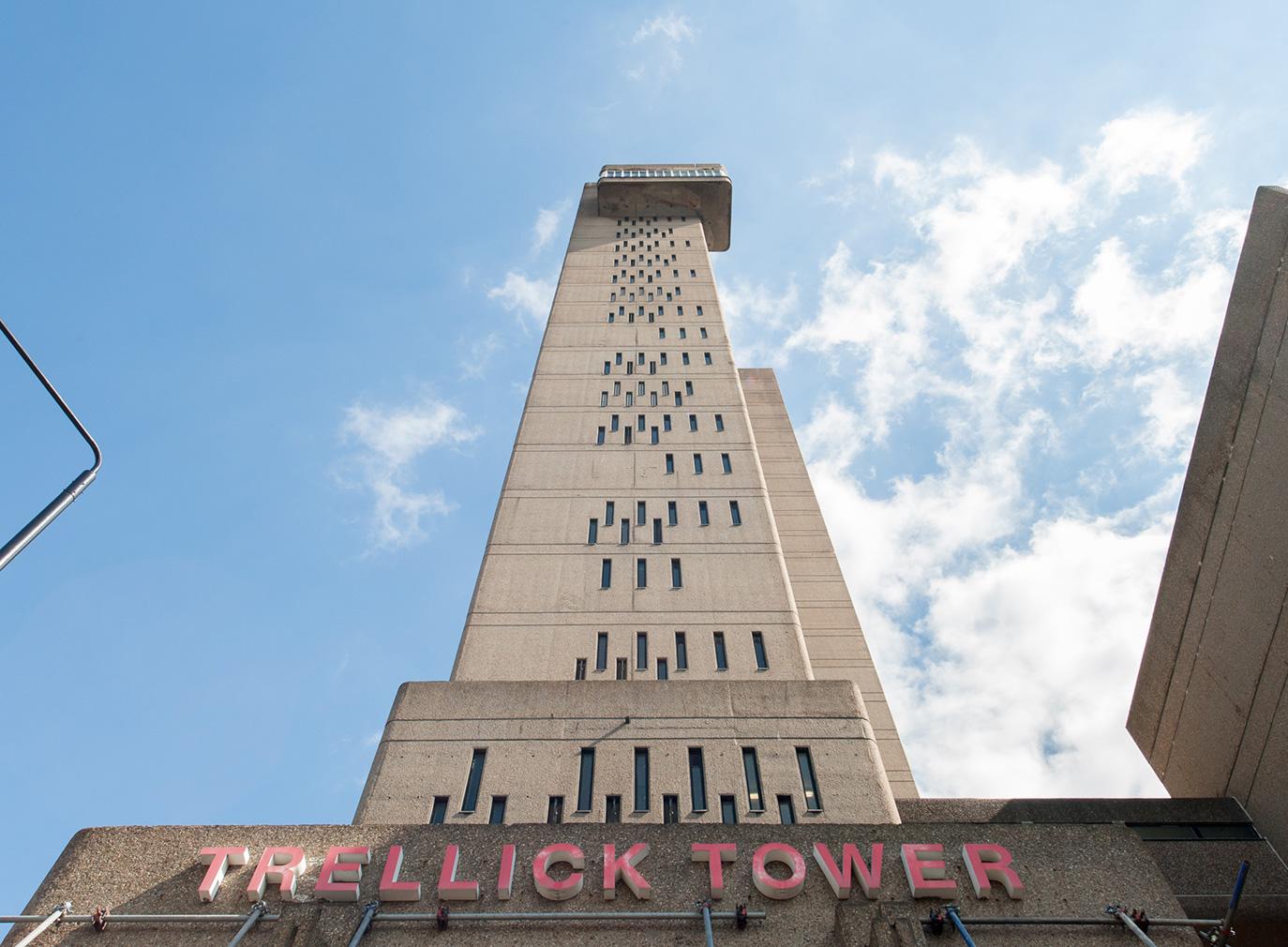 Trellick Tower's concrete facade
