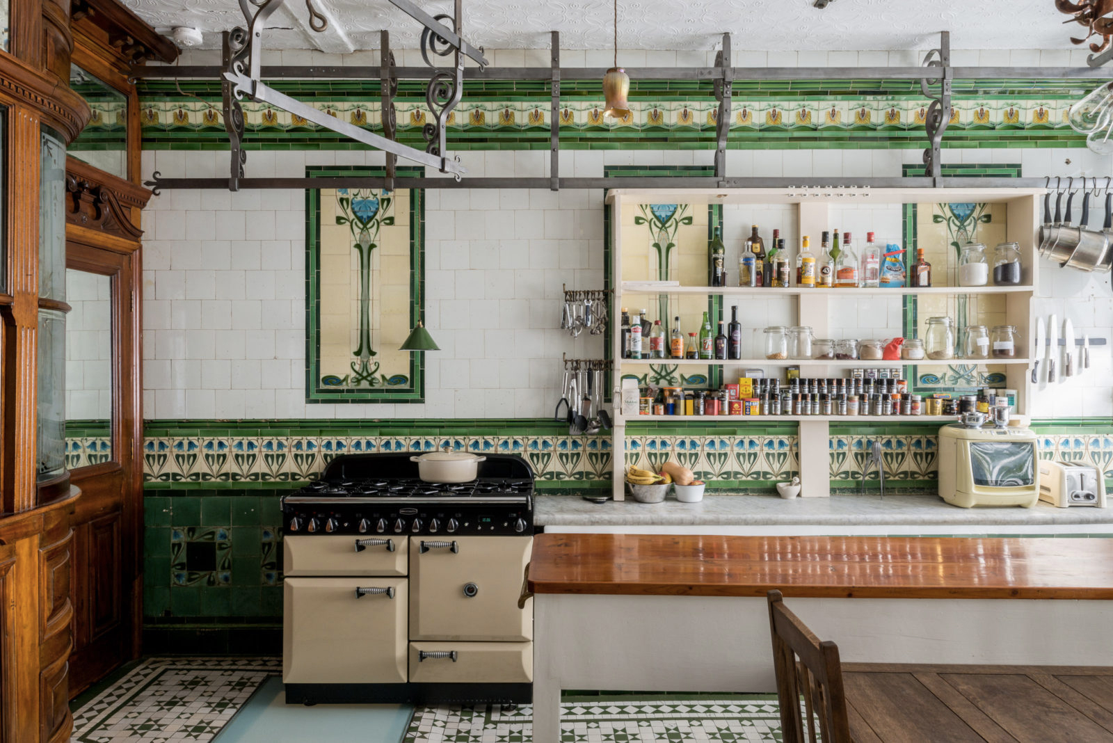 A converted butcher's shop in London, UK