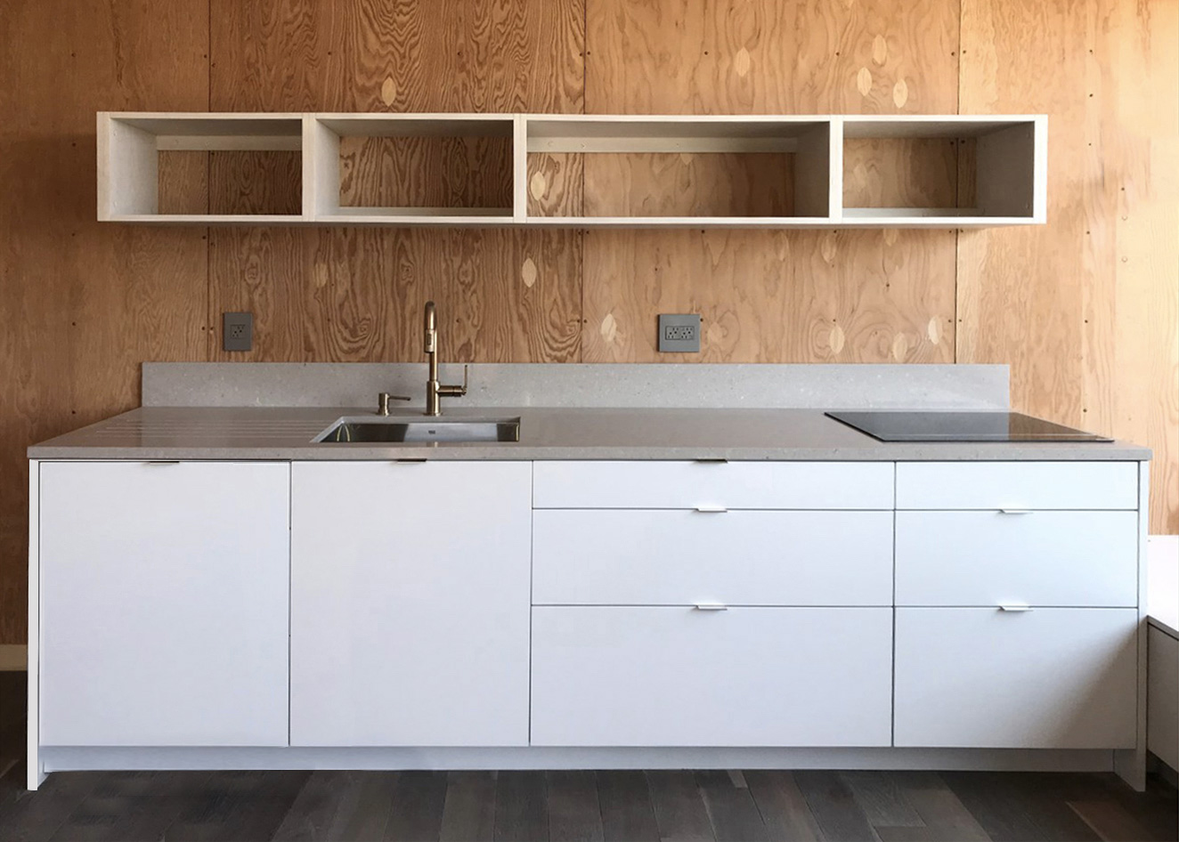 The cabinetry and fixtures of the lightHouse auxiliary dwelling units can be customised
