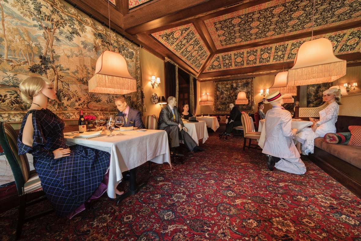 The Inn at Little Washington in Virginia has seated mannequins at its tables
