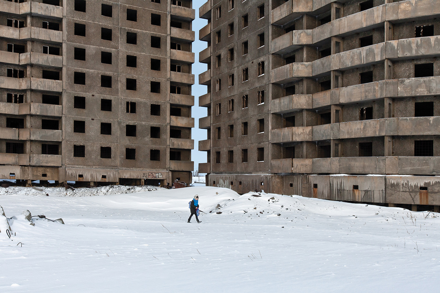 Oganer microrayon in the monotown of Norilsk. Photography: Alexander Veryovkin © Zupagrafika, 2020