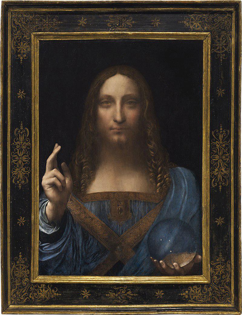Salvator Mundi painting of Jesus Christ, attributed to Leonardo Da Vinci