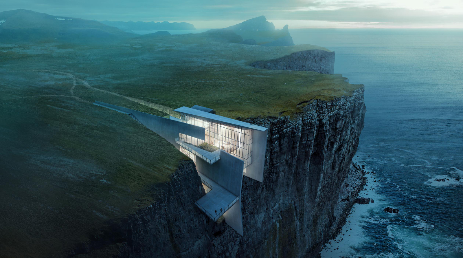 Cliff House by Alex Hogrefe is embedded into an Icelandic cliffside