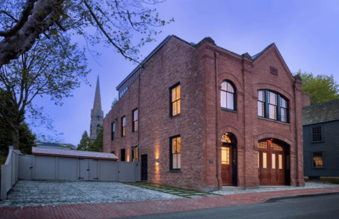 A converted fire station is for sale in Rhode Island