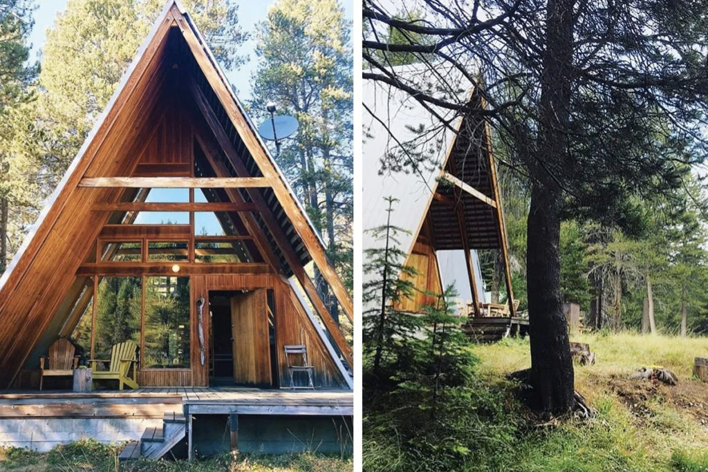 Remote Log Cabin And A Frame Duo List For 620k Close To Yosemite The Spaces