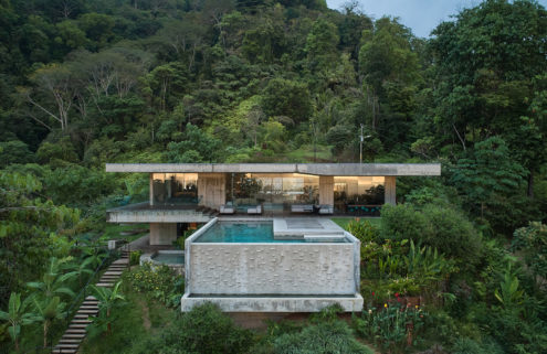 This concrete villa in the Costa Rican jungle is a tropical take on Brutalism
