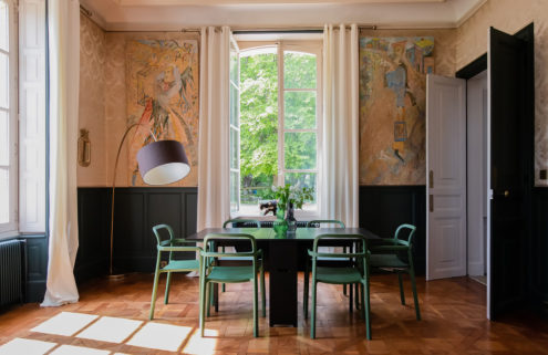 Peek inside the colourful interiors of this restored 18th-century chateau in Normandy