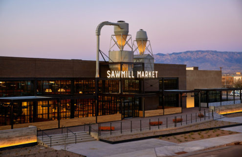 A former lumber warehouse in New Mexico finds life as a food hall