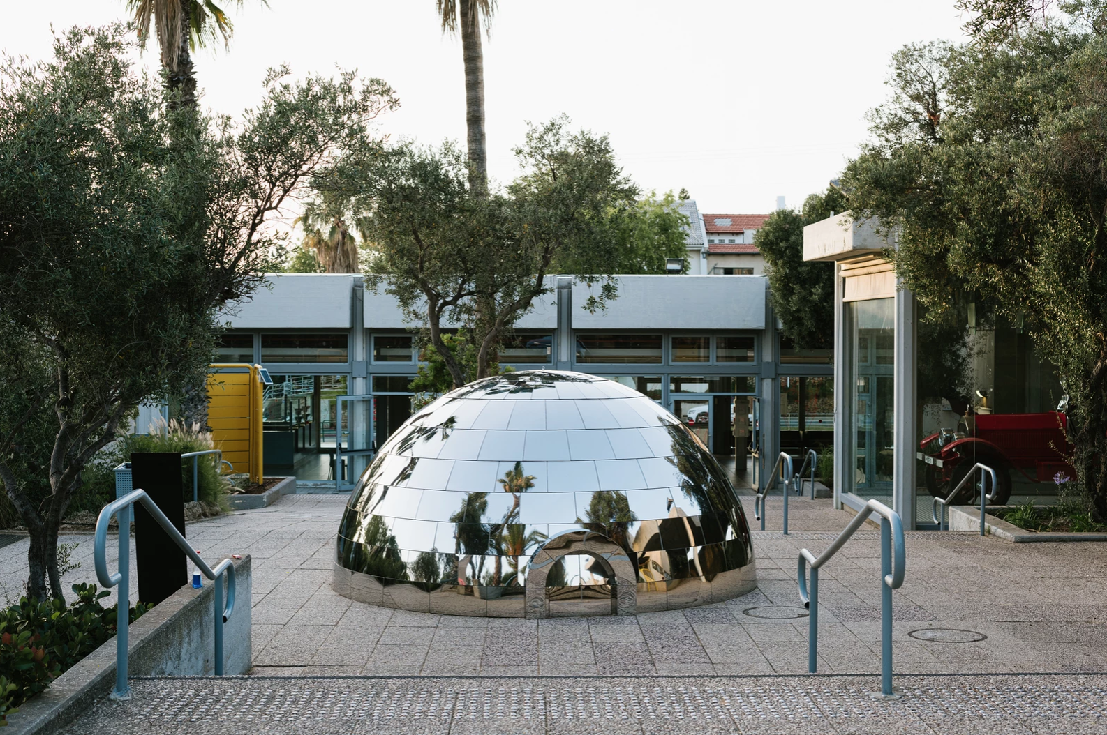 Magenta Workshop builds a mirrored igloo in sunny Tel Aviv for the city's first Craft and Design Biennale
