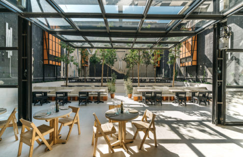 Madrid restaurant Mo de Movimiento champions sustainability with its up-cycled interiors