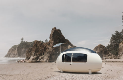 This egg-shaped prefab is a space age take on tiny living