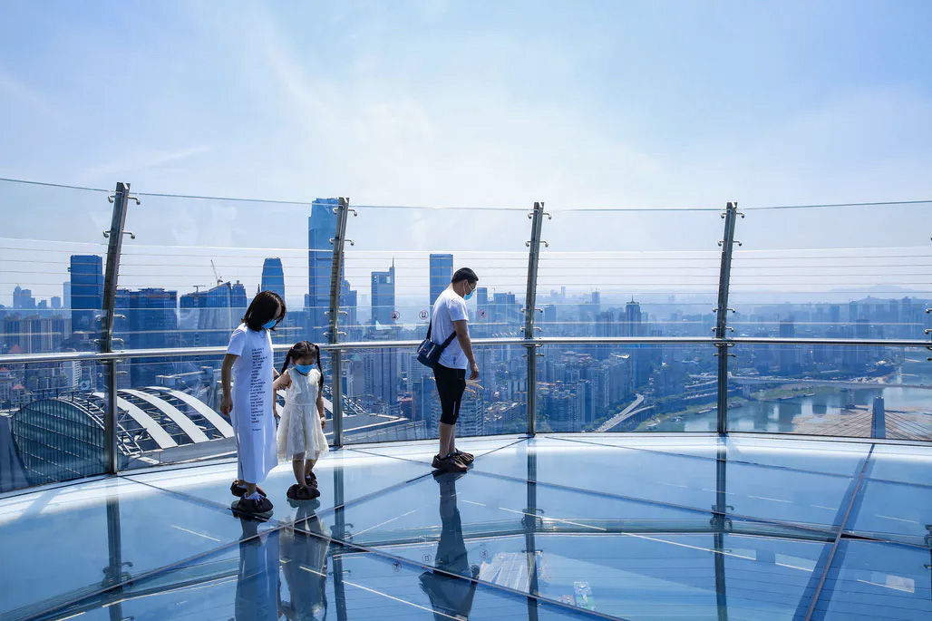 Crystal skybridge Raffles City Chongqing