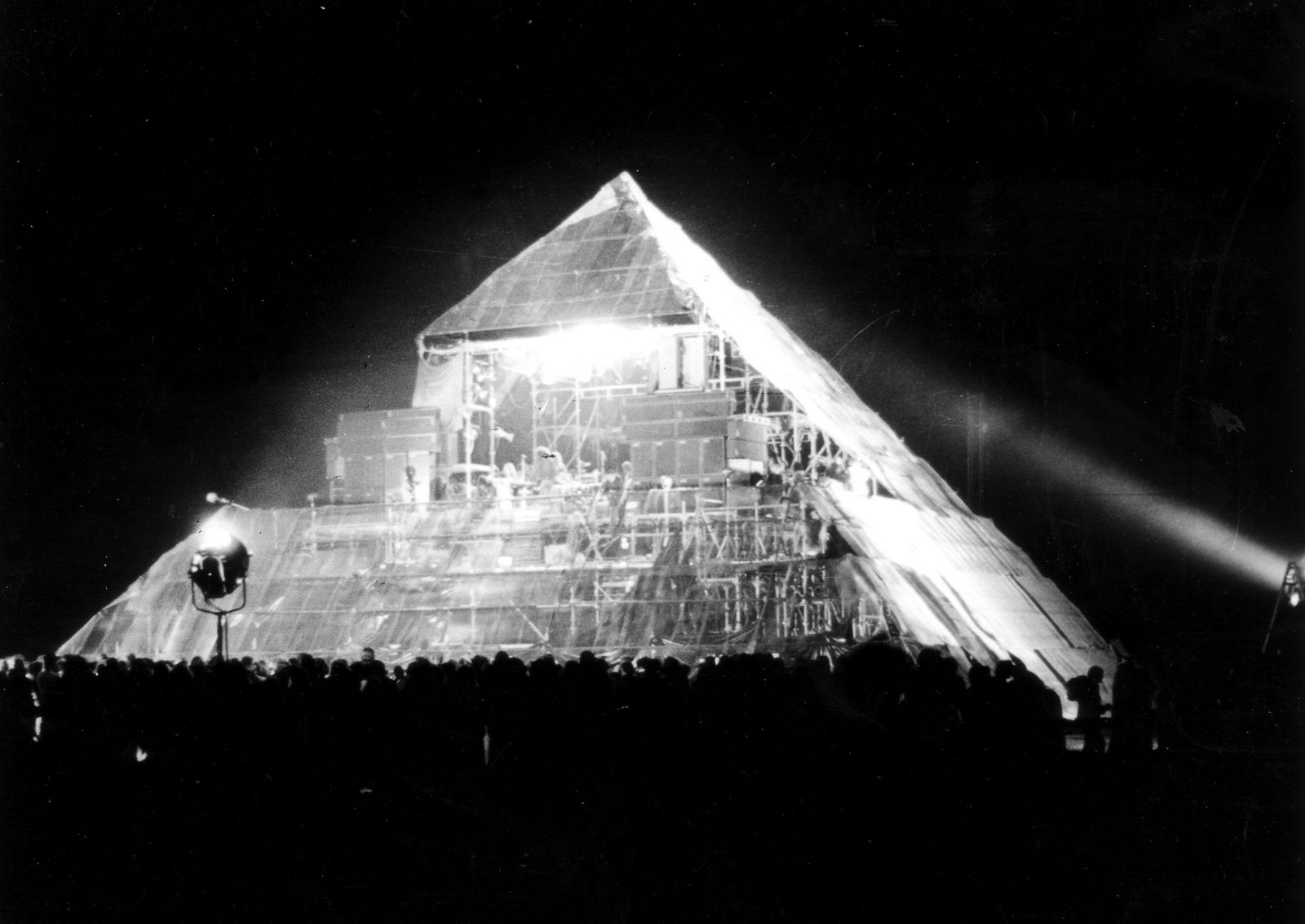 The first Pyramid stage at Glastonbury Festival, 1971 © Brian Walker