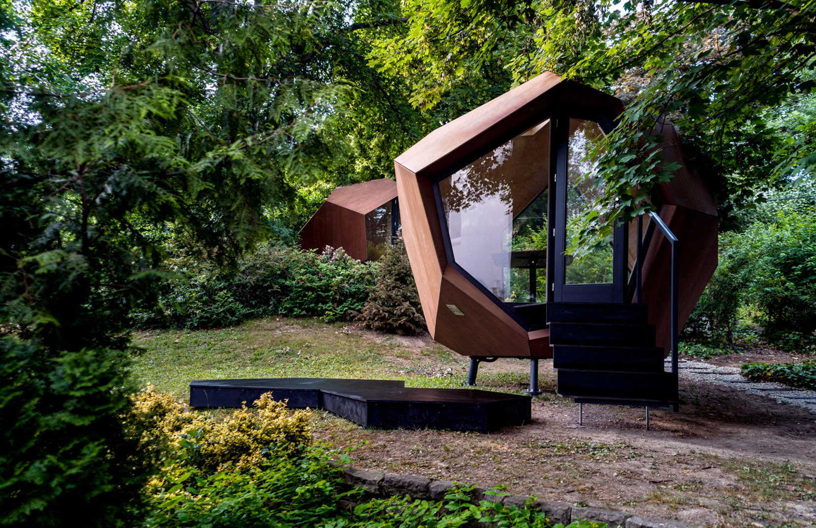 Hello Wood Studio pop-up wooden cabin is a work-from-home solution