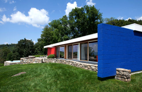 Marcel Breuer's restored Neumann Residence is for sale in Upstate New York