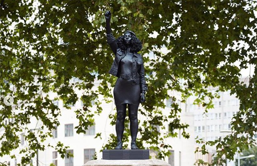 A Surge of Power (Jen Reid) 2020 statue by Marc Quinn