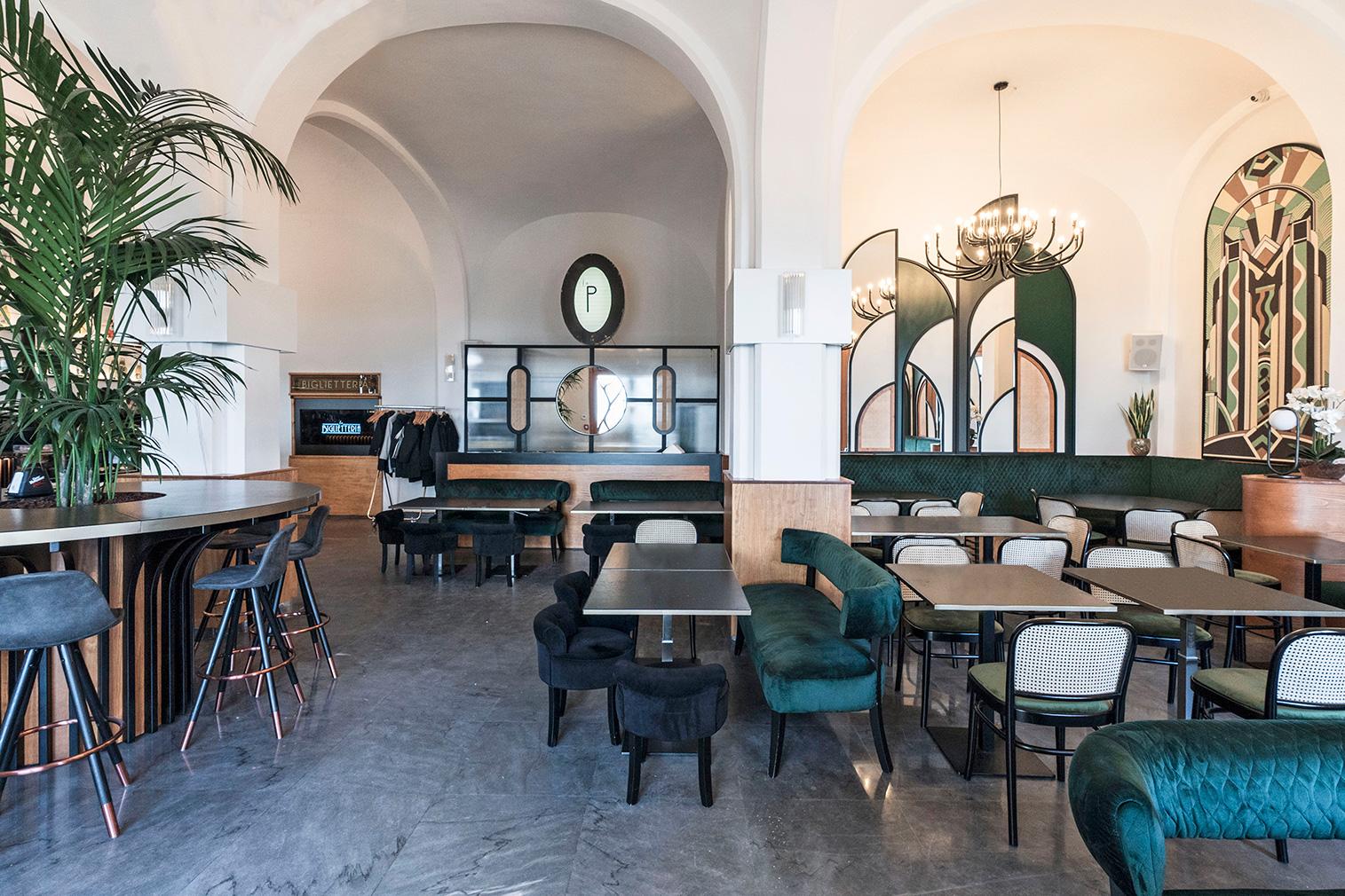 A box office is reborn as 'New Deco' restaurant La Biglietteria in Bari