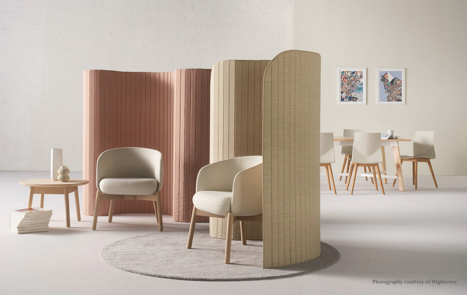 Focus office divider is a tactile mobile partition system that creates micro-pods for workers in open plan spaces. A table top version is also available to further divide spaces.