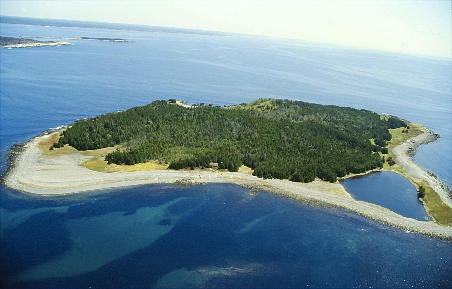 Gravel Island off the coast of Nova Scotia, Canada