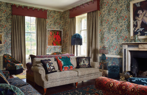 House of Hackney transforms Cornwall's Castle of Trematon into a maximalist retreat