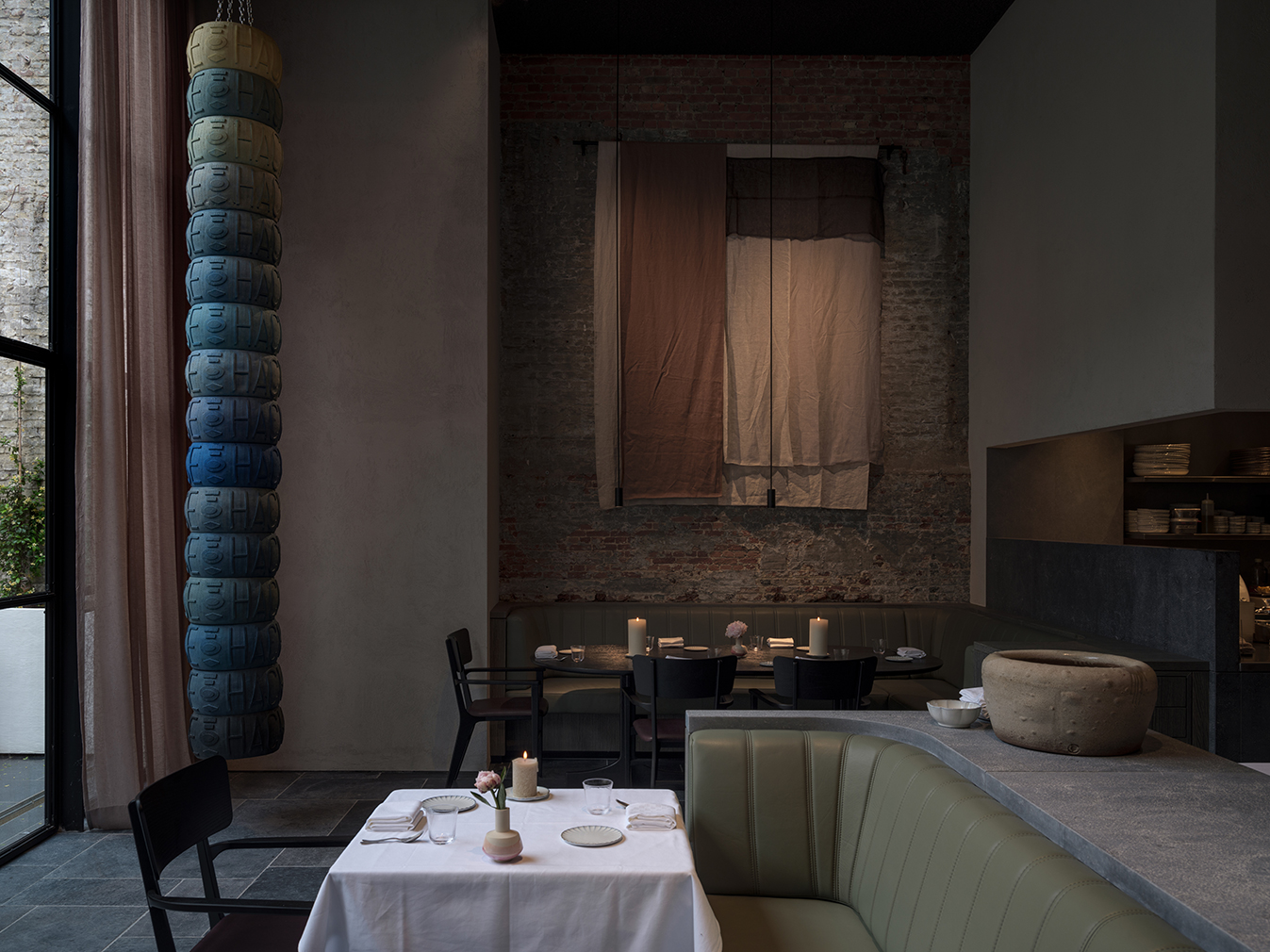 Flemish artists inspire the sumptuous interiors of Antwerp restaurant Le Pristine