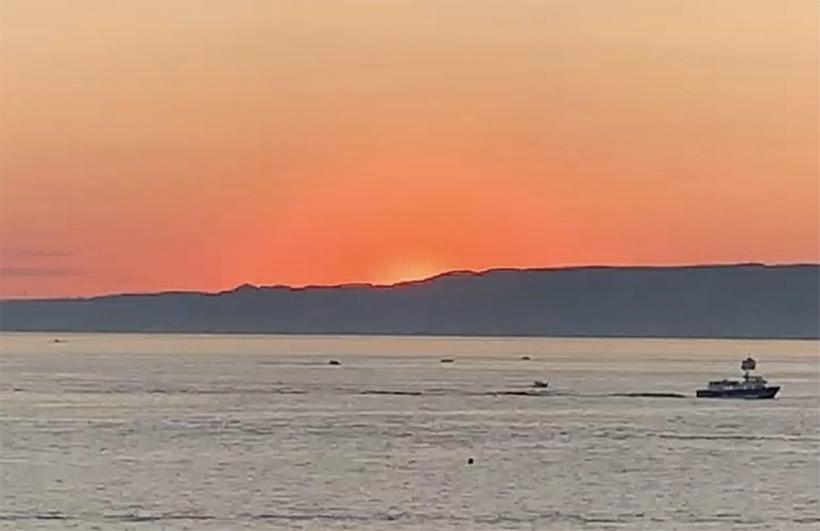 Marseille summer sunset