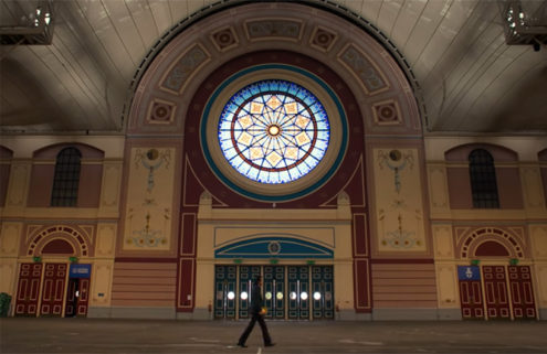 Nick Cave performs 'Conversations' inside an empty Ally Pally